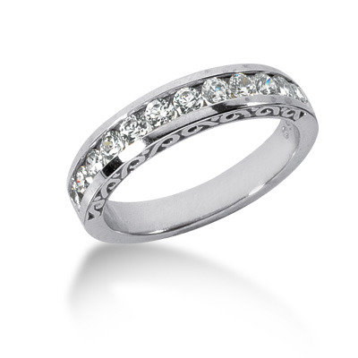 0.60 ct. Channel Set Antique Diamond Bridal Ring -25karats