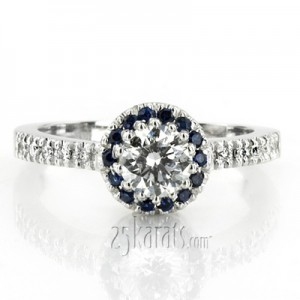 Wedding Ring Without Diamond 27 Ideal sapphire accent pave set