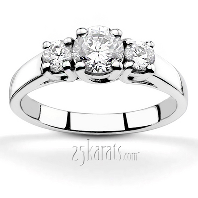 three wedding diamonds gia engagement triple stone certified diamond rings