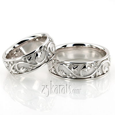 Platinum Antique Wedding Bands
