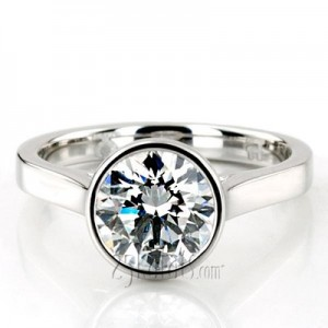 bezel-set-engagement-ring