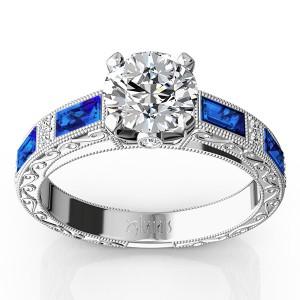 blue-sapphire-and-diamond-antique-design-retro-ring