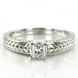 Wedding And Engagement Rings Set