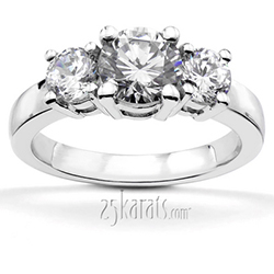 Palladium Diamond Wedding Rings