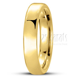 Euro dome comfort fit wedding band