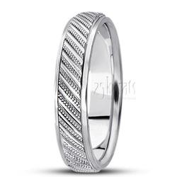 Diamond cut fancy wedding band