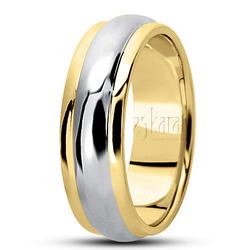 Simple carved wedding bands