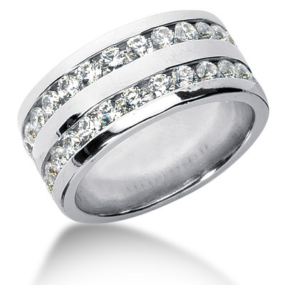 2.08 ct. Double Row Channel Set Diamond Men's Ring