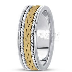 Hand made woven wedding band