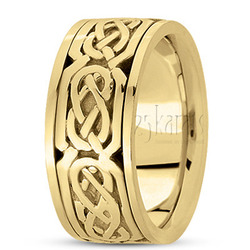 Hand made celtic wedding band
