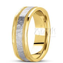 Basic carved square wedding band
