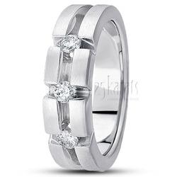 Round diamond classic wedding ring