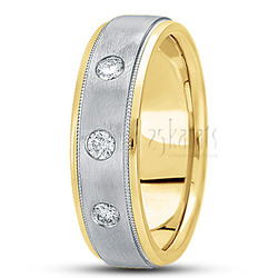 Diamond classic round wedding band