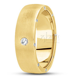 Diamond classic round wedding band