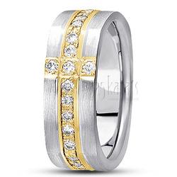 Diamond classic round cut wedding ring