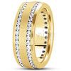 Diamond classic round cut wedding band
