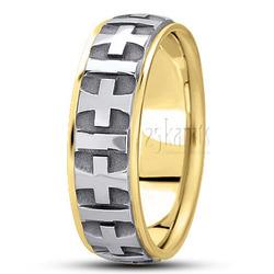 Basic carved religious wedding ring