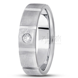 Diamond classic round cut wedding ring
