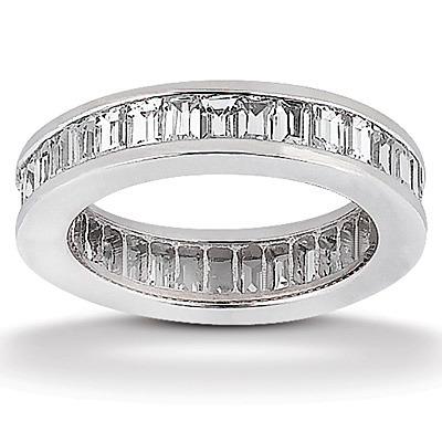 279 Ct Tw Baguette Cut Diamond Channel Set Eternity Wedding Band