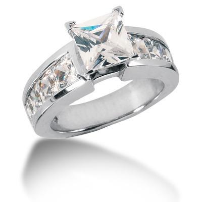 Channel Set Princess Cut Diamond Engagement Ring (2.28 ct.tw.)