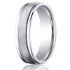 Cobaltchrome™ 6mm Comfort-Fit Satin-Finished Round Edge Design Ring