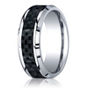 Cobaltchrome™ 8mm Comfort-Fit Carbon Fiber Inlay Design Ring