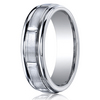 Cobaltchrome™ 7mm Comfort-Fit Satin-Finished Round Edge Design Ring