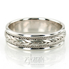Hm003 braided sleek hand woven wedding band