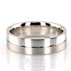 Dc676 diamond cut wedding band