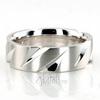 Ba100365 extravagant diagonal cut basic wedding band