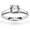 Four prong contemporary solitaire engagement ring