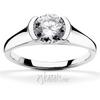 Half bezel contemporary designer engagement ring