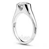 High polish designer half bezel diamond engagement ring