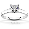 Four prong princess cut center diamond engagement ring v tip prongs