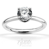 Four prong designer solitaire engagement ring