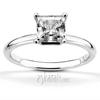 Princess cut center diamond engagement ring