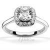 Cushion center halo diamond engagement ring