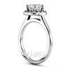 Plain shank halo diamond engagement ring