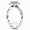 Split prong pave set halo engagement rings 0 60 ct diamond weight