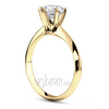 Knife edge designer solitaire engagement ring tiffany head