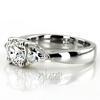 Enr2170 trillion cut diamond engagement ring