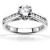 Channel set with pave set fancy bridge diamond engagement ring