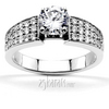 Classic bead set graduating diamond engagement ring