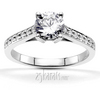 Enr8349classic high basket set center bead set diamond engament ring cartier style
