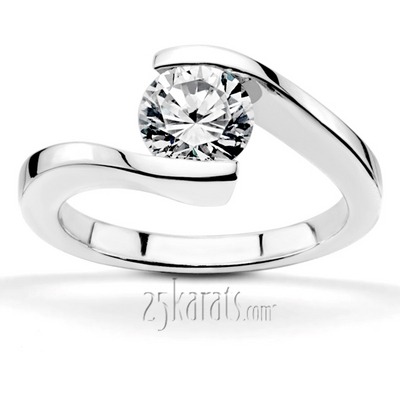 Trinity Knot Wedding Rings 87 Epic Unique tension set engagement