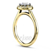Yellow gold halo diamond engagement ring