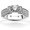 Pave set diamond engagement ring set