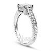 Gold platinum palladium antique engagement ring