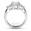Platinum palladium gold three stone engagement ring