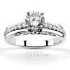 Micro pave filigree diamond engagement ring